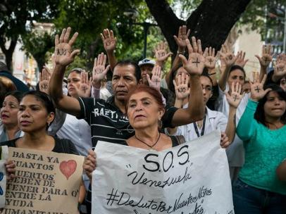 Protesta por falta de trasplantes en Venezuela