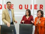 Adriana Lastra, Pedro Sánchez y Carmen Calvo