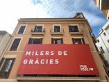 26M.- El PSIB-PSOE Despliega Una Pancarta En Su Sede Agradeciendo A Los Votantes Su Apoyo En Las Elecciones