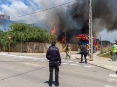 AMP2.- Un muerto y diez heridos en el incendio de un edificio abandonado en Ibiz