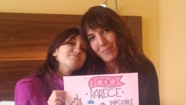 Patricia y su hija Aleixandra, que padece anorexia.