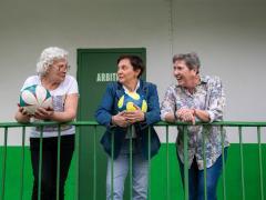 María Ángeles Pére, Mari Carmen Álvarez Matey e Isabel Fuentes.