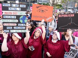 Manifestación a favor del derecho al aborto en EE UU