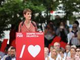 26M.- Chivite dice a Iglesias que el PSN 'quiere seguir la línea de acuerdos del PSOE y la forma de gobierno, veremos'