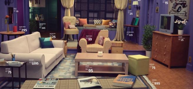 El salón de Mónica Geller recreado por Ikea