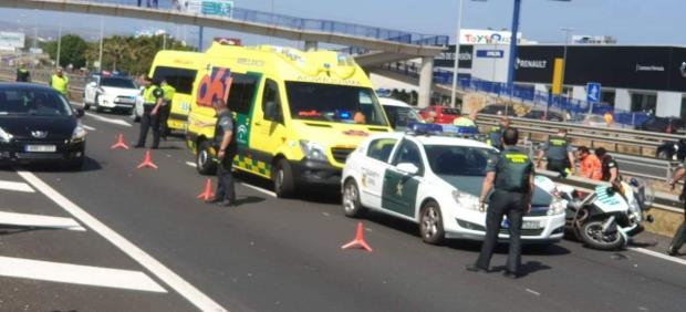 Cádiz.-Sucesos.- Fallece un Guardia Civil en un accidente en la A-7 a la altura de Los Barrios
