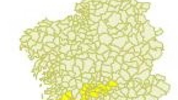 Las altas temperaturas de más de 34º y 36º mantendrán activado este sábado el aviso amarillo en zonas del sur de Galicia
