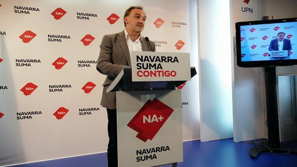 Javier Esparza: 'La sociedad navarra ha dicho que Navarra Suma debe encabezar' el Gobierno foral