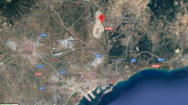 Fuga de amoniaco en La Pobla de Mafumet, Tarragona