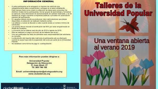 Sevilla.- Arte, tradiciones, salud y muchas alternativas en los talleres de verano de la Universidad Popular de Alcalá