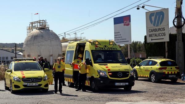 Dispositivo por la fuga de amoniaco en Tarragona