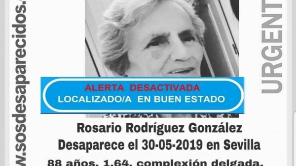 Sevilla.- Sucesos.- Hallada en buen estado la anciana desaparecida en la capital