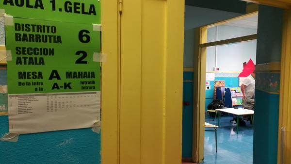 28A.- La participación en Euskadi sube 8,7 puntos, hasta el 60,05%, a las 18.00 horas