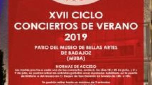 Cuatro actuaciones componen el programa del XVII Ciclo de Conciertos de Verano 2019 del Museo de Bellas Artes de Badajoz