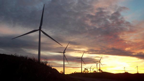 Parque eólico Los Lirios en el Complejo Eólico El Andévalo de Iberdrola
