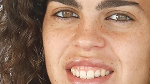Andrea Falcón, jugadora de la selección española de fútbol