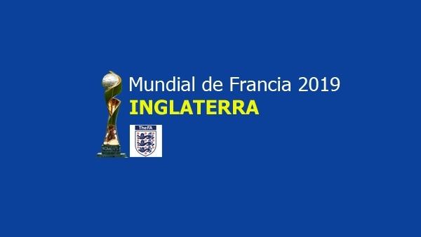 Equipo nacional de Inglaterra para Francia 2019.