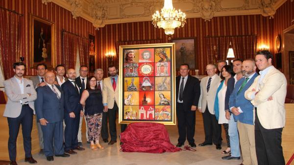 Sevilla.-El cartel del Corpus, obra colectiva de 14 artistas, recrea las cubiertas de la Catedral de Sevilla