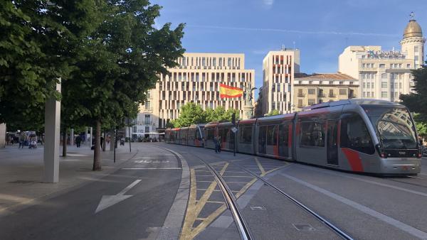 Zaragoza.- El Tranvía refuerza su servicio con unidades dobles con motivo del partido de fútbol Real Zaragoza-Numancia