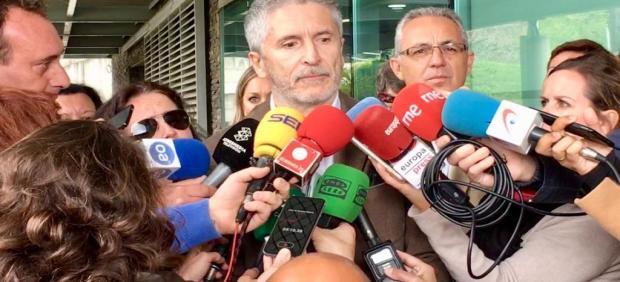 28A.-Marlaska dice que llamó la atención que Rivera no sacara un retrato de la plaza de Colón donde 'no sale favorecido'