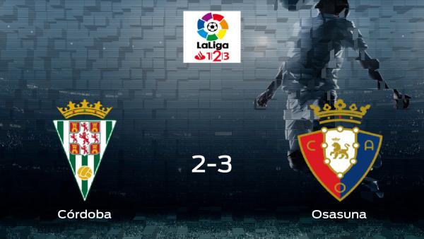 Osasuna gana 2-3 al Córdoba y se lleva los tres puntos