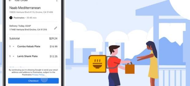 Cómo es pedir comida a través de Google