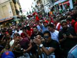 La marea de aficionados llega a Madrid