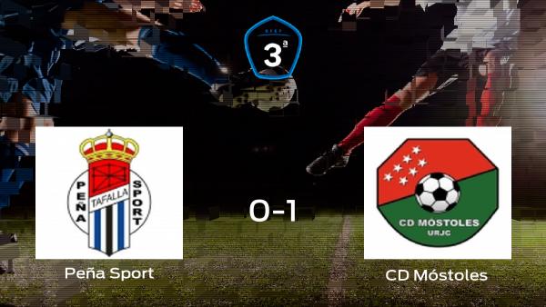 El Móstoles continúa en la siguiente ronda de los playoff tras su victoria contra la Peña Sport (0-1)