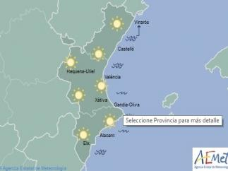 Cielos despejados en un domingo con temperaturas que superarán los 30 grados en Valencia y Alicante