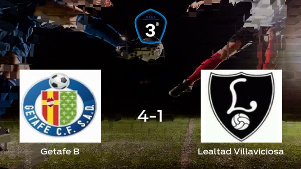 El Getafe B se impone por 4-1 ante el Lealtad Villaviciosa y consigue una plaza en Segunda División B