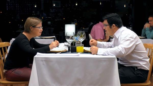 María y Manolo, en 'First dates'.