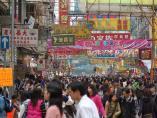 Multitud en Hong Kong