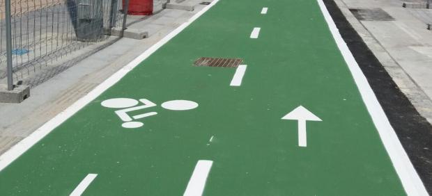 Cádiz.- Las obras del carril bici en extramuros concluirán a finales de junio en Cádiz