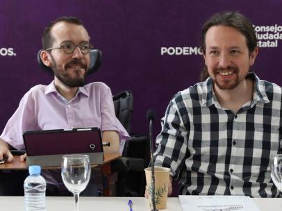 Pabo Echenique y Pablo Iglesias