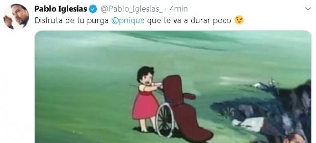 Tuit Pablo Iglesias