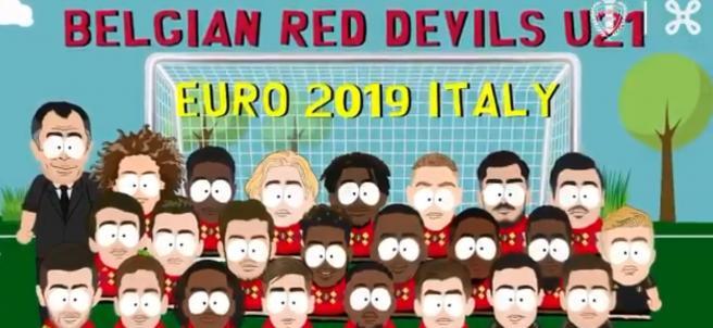 Selección belga sub21 a lo South Park