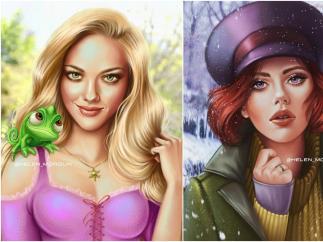 Rapunzel (Amanda Seyfried) y Anastasia (Scarlett Johansson)