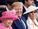 Isabel II y Donald Trump en el 75 aniversario del desembarco de Normadía