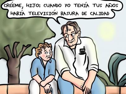 'Televisión basura', viñeta de Superantipático.