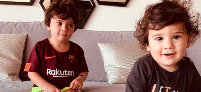 Mateo y Thiago, hijos de Leo Messi