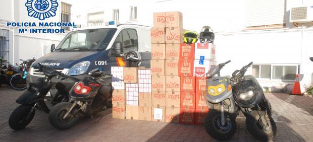Cádiz.-Sucesos.- 65 detenidos y más de 270.000 cajetillas de tabaco de contrabando incautados en la Línea desde enero