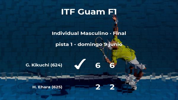 El tenista Gengo Kikuchi vence la final del torneo de Tumon