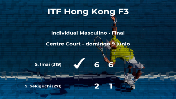 Shintaro Imai se convierte en el campeón del torneo de Hong Kong