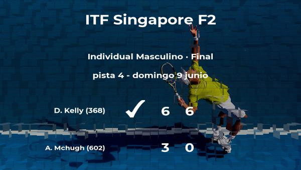 Dayne Kelly gana la final del torneo de Singapur