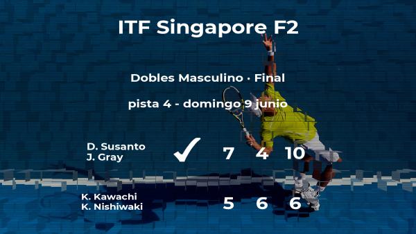 Los tenistas Susanto y Gray, campeones del torneo de Singapur