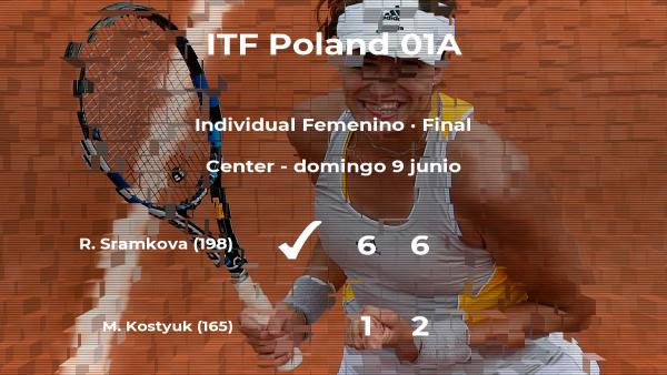 Final del torneo de Torun: la tenista Rebecca Sramkova derrota a Marta Kostyuk