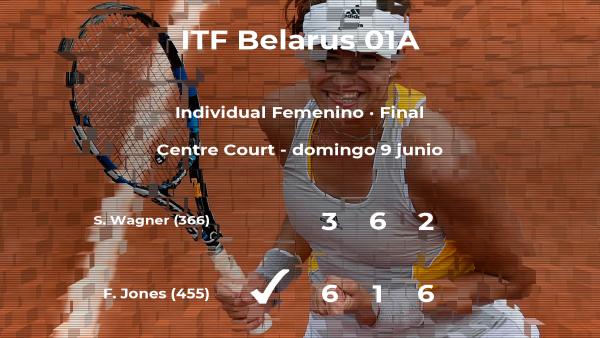 Triunfo para la tenista Francesca Jones en la final del torneo de Minsk