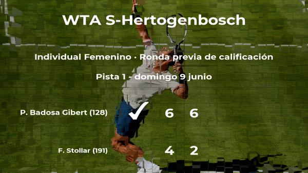 La tenista Paula Badosa Gibert consigue ganar en la ronda previa de calificación a costa de Fanny Stollar