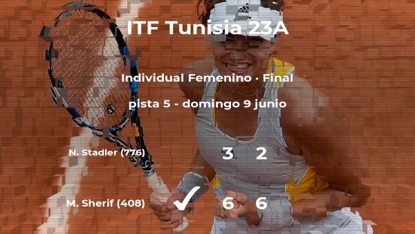La tenista Mayar Sherif vence en la final del torneo de Tabarka