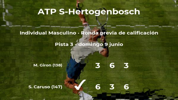 El tenista Salvatore Caruso consigue la plaza para la siguiente fase tras vencer en la ronda previa de calificación